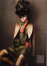 Large black flower hat on model