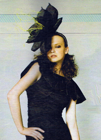 Philadelphia Philpot Millinery_large black flower_Weekend_Aust _Magazine 2012