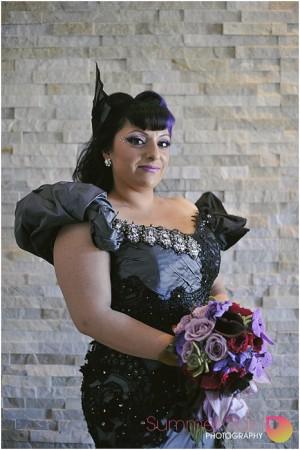 Summer Rain Photography_ Philadelphia Philpot gothic bridal headpiece 2014