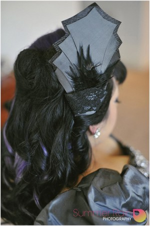 Gothic bridal headpiece by Philadelphia Philpot 2014