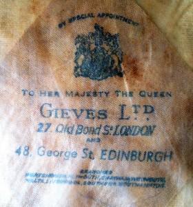 Inside of a Gieves Ltd Naval Hat 1970's