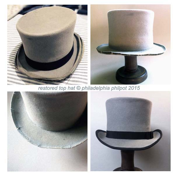 Top hat restored by Philadelphia Philpot
