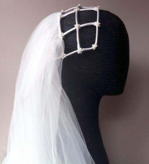 1978 Juliet bridal headpiece restored by Philadelphia Philpot 2015