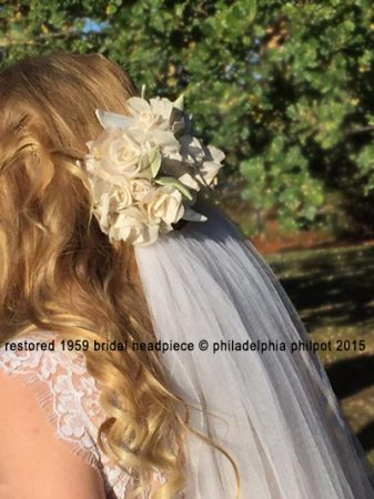 Philadelphia Philpot restoration of 1950's bridal headpiece Bec_Apri2016
