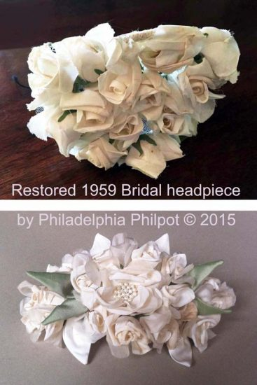 Philadelphia Philpot Restored 1959 bridal headpiece by