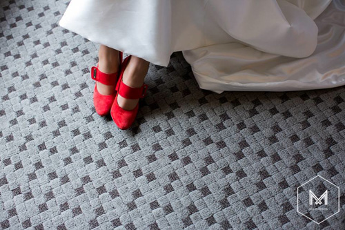 The Bride wore red shoes Sept 2015