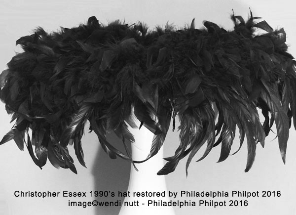 Philadelphia Philpot restored a1990's Christopher Essex hat in 2016