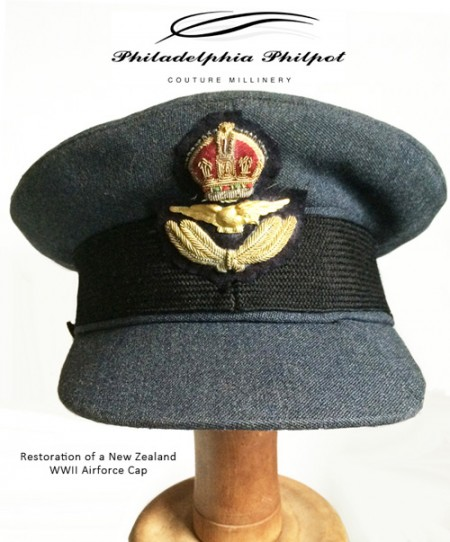 Restoration of WWII New Zealand Airforce Cap 2017