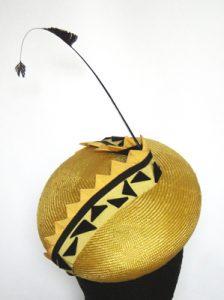 Yellow and black beret hat by Philadelphia Philpot 2009