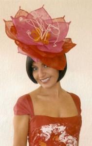 Philadelphia Philpot large flower headpiece for Lisa Wellings