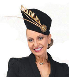 Philadelphia Philpot hat for Lisa Wellings - Fashions on the Field