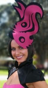 philadelphia_philpot_hat _lisa_wellings_pink_black_flame_headpiece_2010_sydney