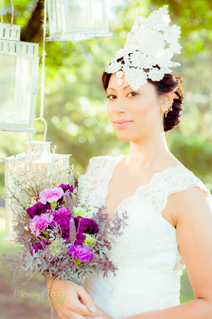 Blessing Berry Photography_Lace headpiece by Philadelphia Philpot Sydney 2014