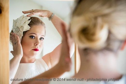 Couture bridal headpiece by Philadelphia Philpot 2014
