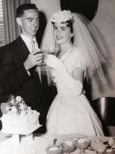 Francis and Margaret Mullins Wedding 4th April 1959