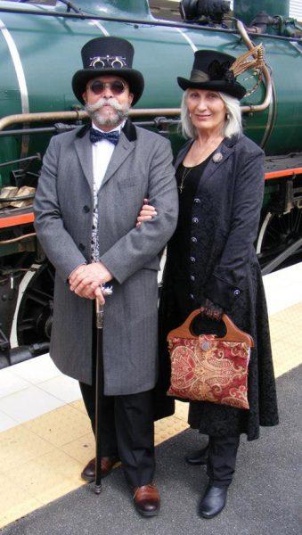 John and Kate Marshall wearing Edwardian and Steampunk 2015