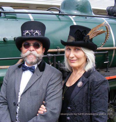 John and Kate Marshall_Philadelphia Philpot_Steampunk Top Hats_September 2015
