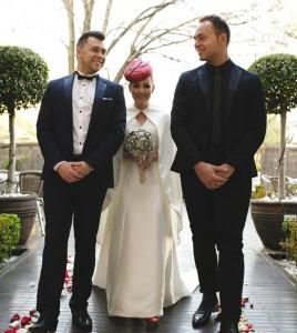 Philadelphia Philpot Red wedding hat