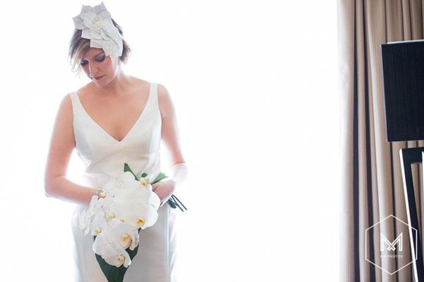 Philadelphia_Philpot Millinery_Leather Bridal headpiece_Alison_Sept 2015