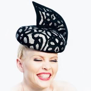 Philadelphia Philpot_Black and white felt hat 2017
